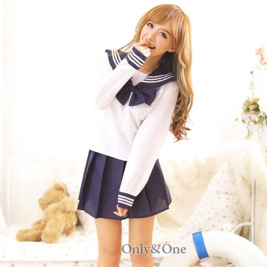 セーラー服 長袖 紺