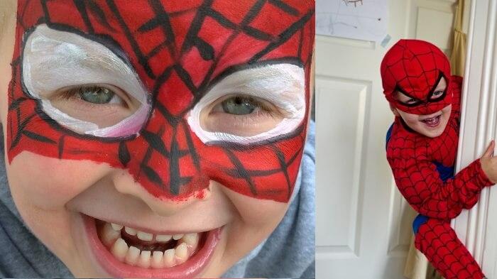子供のハロウィンコスプレ衣装のおすすめ4:スパイダーマン