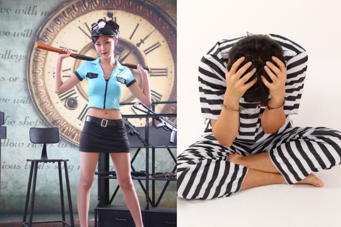おすすめペア衣装2女性看守と男性囚人